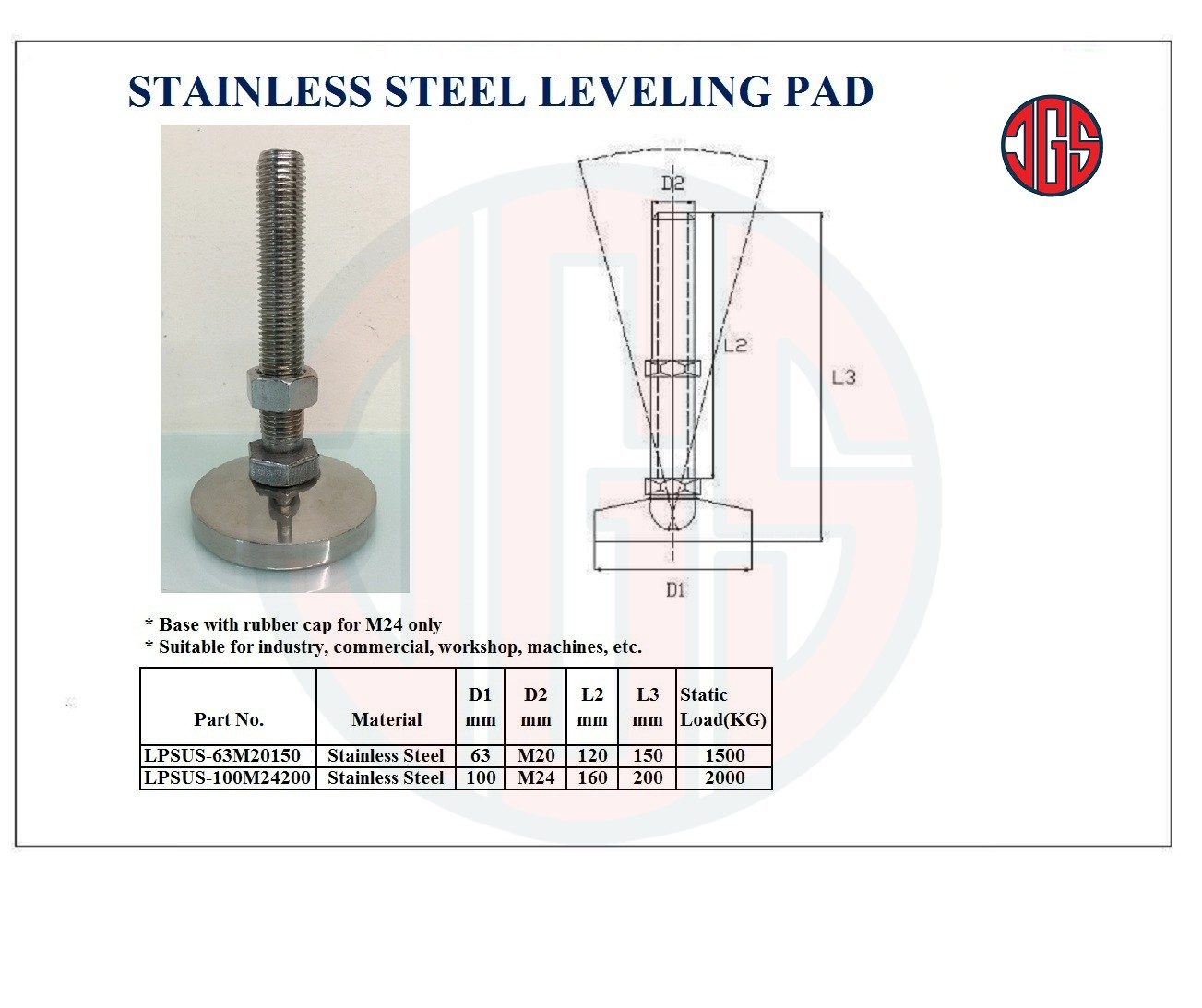 Stainless Steel Leveling pad
