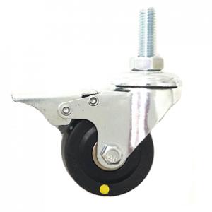 221 Series - Black Conductive (ESD) & Grey Poly urethane (PU) Bole Hole Castors