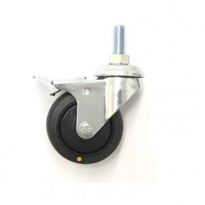 370 Series - Black Conductive (ESD) & Grey Thermoplastic Rubber (TPR) Bole Hole Castors
